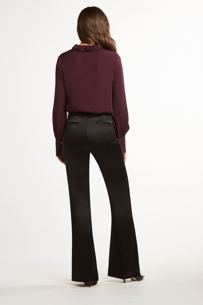 Anna Fit & Flare Satin Pant