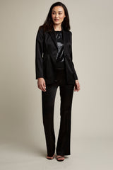 Madison Single Button Satin Blazer