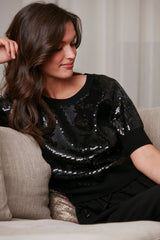 Pave Sequin Sweater