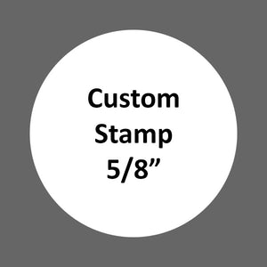 "Custom Stamp (XL 5/8"") hand drawn image or image editing needed"