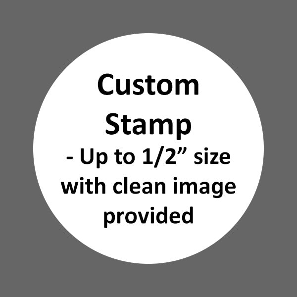 Custom Stamp (1/2 or smaller) Clean B&W .jpg, .ai or .eps