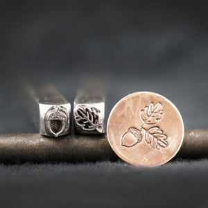 Tiny Acorn & Oak Leaf (SET)