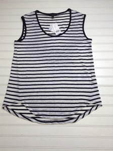 NWT Banana Republic Black and white Size S Tank Top Linen and Cotton 10A
