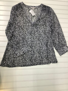 41 Hawthorn Black and white blouse Size S 1A