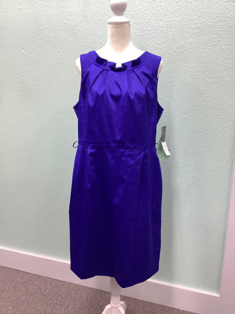 NEW Jones Wear Sleeveless Sheath Dress Blue Size 14 1H