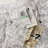 Women's Seven7 Size 8 Silver(grey)/White Abstract Jeans  NWT!
