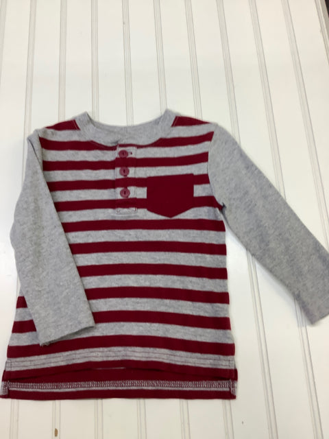 Cat & Jack Gray & Red 18 Months Boy's long Sleeve Shirt 2C
