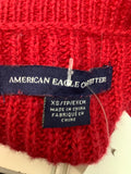 Women's American Eagle Red Size XS Knit Sweater 1D