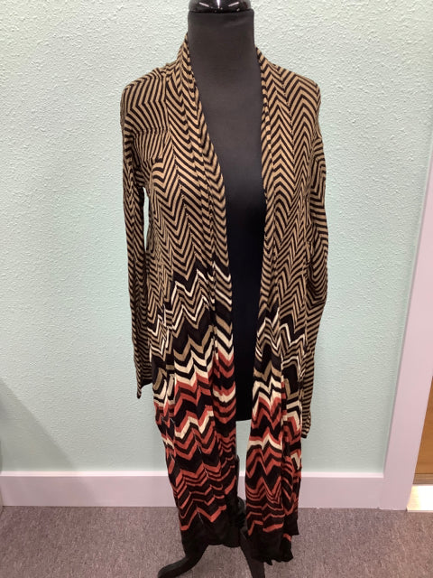NWT Freeway Brown and Red Size L Cardigan 1E