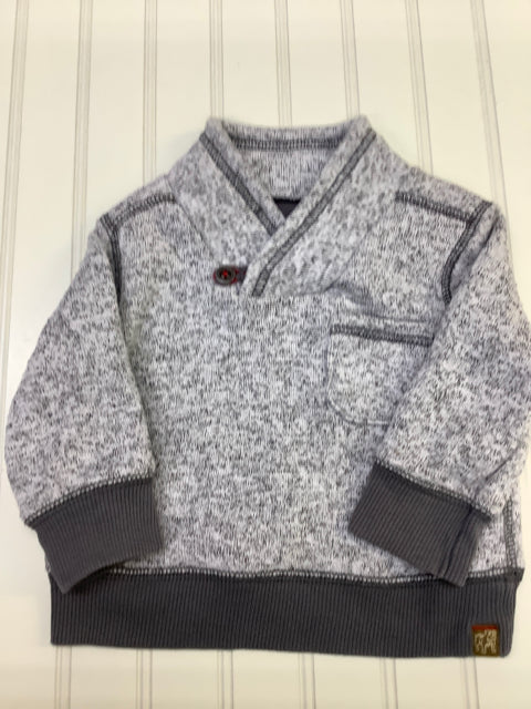 Genuine Kids Osh Kosh Boy's Gray 18 month Sweater 2C