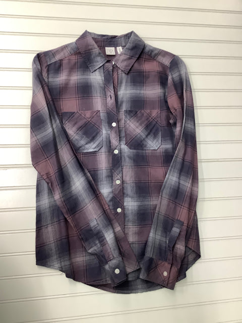 Nordstrom BP purple and grey plaid Size XS Shirt 1C
