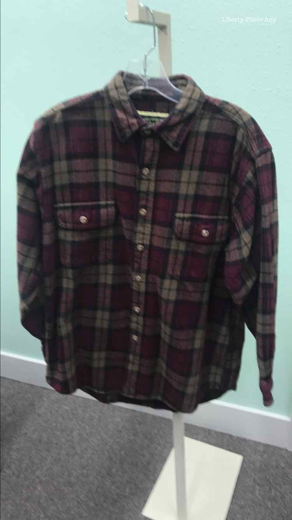 Field & Stream Men's Brown & Red Flannel Size S 2A