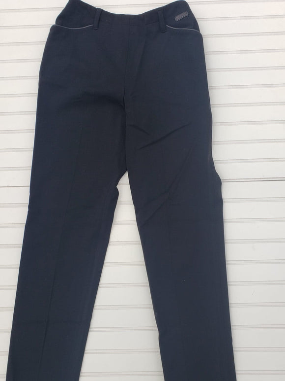 Women's Lauren by Ralph Lauren Size 8 Black Slacks 77% wool 1A