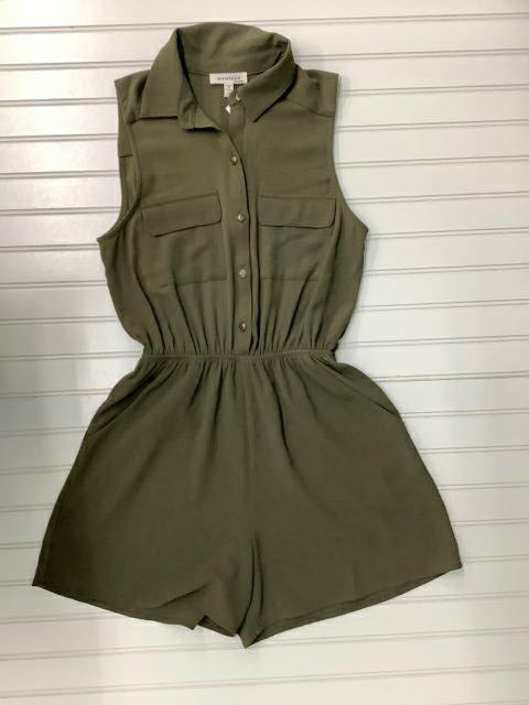 Monteau Size Small Green Short Romper 1B