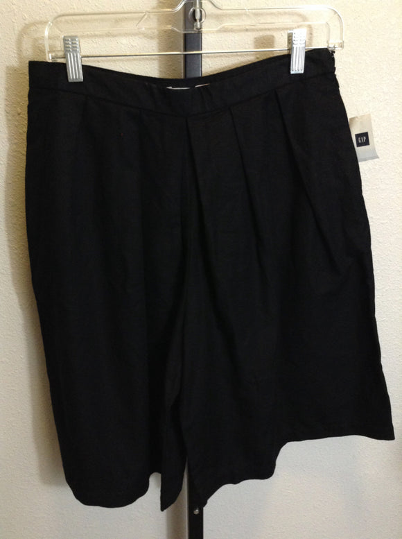 Gap Size 4 Pleated Black Goucho Pant NWT 2H