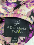 Adrianna Papell Purple Floral Dress Size 10P