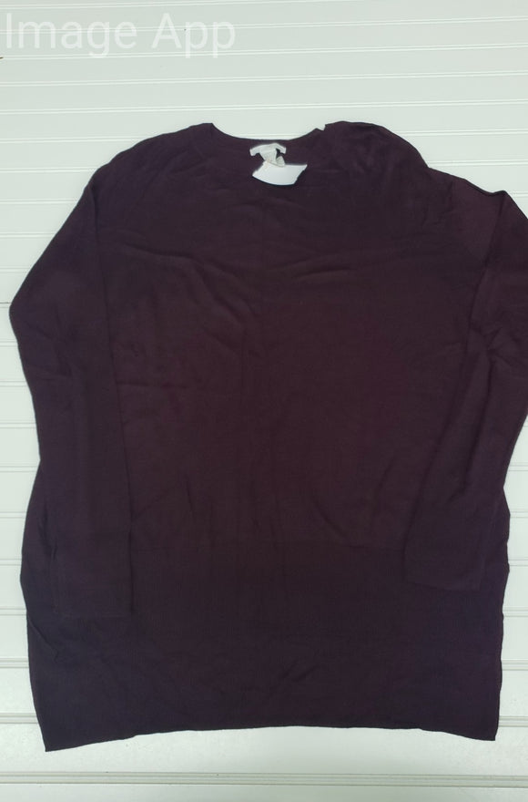 NWOT Women's H&M Burgundy Sweater Size S 1A