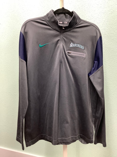 Men's Nike BSBL Seattle Mariners Pullover Size L 2A