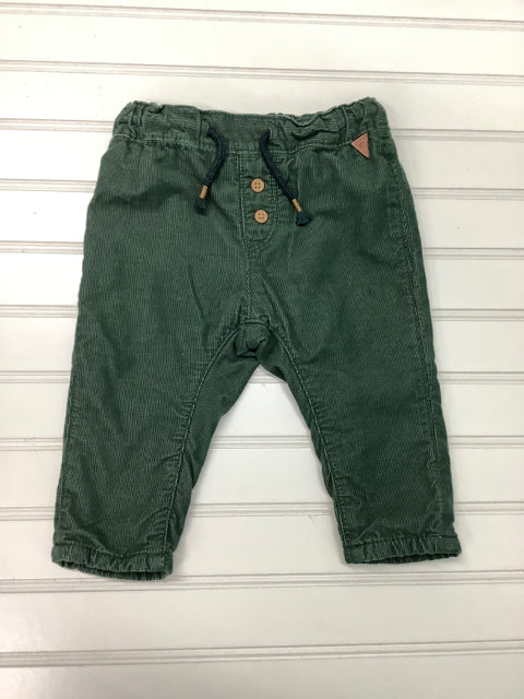 Baby H & M Green Corduroy Pull-on Lined Harem pant Size 4-6M 2A