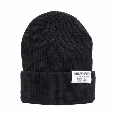 BEANIE GRIZZLY CERTIFIED FOLD BLACK