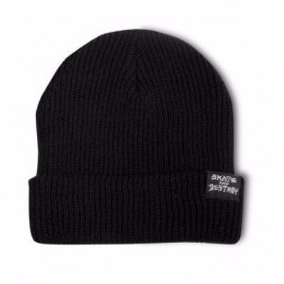 BEANIE THRASHER SKATE AND DESTROY BLACK