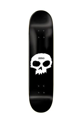 DECK ZERO SINGLE SKULL BLK WHT 8.0