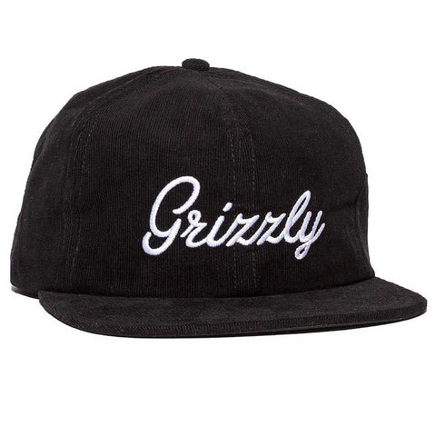 HAT GRIZZLY CURSIVE STRAP BLACK