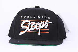 HAT HUF WORLDWIDE STOOPS STARTER SNAP BK