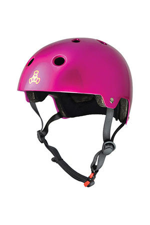 HELMET BRAINSAVER CERTIFIED METALLIC PINK