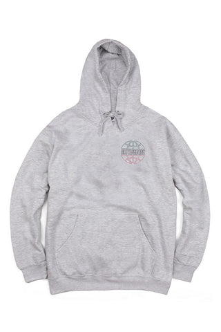 HOODIE BUTTER GOODS ITALIA OUTLINE HEATHER GRY FRONT