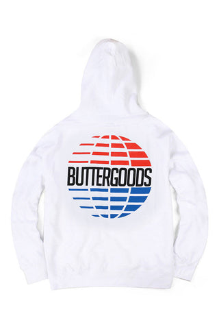 BACK - HOODIE BUTTER GOODS MULTI-NATIONAL WHITE