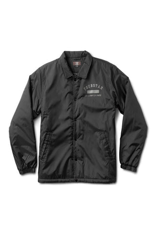 JACKET FOURSTAR SHERPA COACH BLACK FRONT