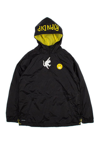 JACKET RIPNDIP EVERYTHING'LL BE OK BLACK FRONT