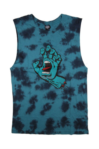 MUSCLE TEE SANTA CRUZ SCREAM TYE DIE BLUE