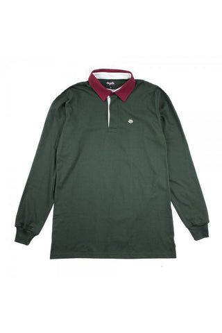 POLO MAGENTA L/S DARK GREEN
