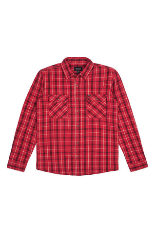SHIRT BRIXTON BOWERY L/S FLANNEL RED/BLK