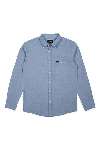 SHIRT BRIXTON CENTRAL L/S CHAMBRAY LT BLUE