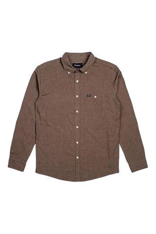 SHIRT BRIXTON CENTRAL L/S HEATHER MOSS