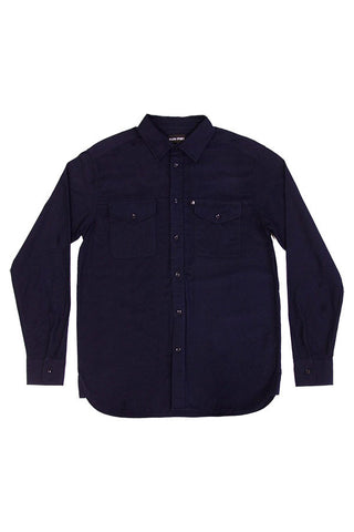 SHIRT PASS PORT WORKERS LATE FLANNO NAVY