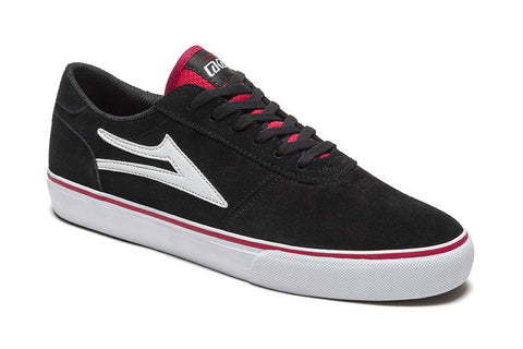 SHOES LAKAI MANCHESTER SP17 BLK/RED SUEDE