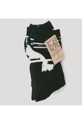SOCKS PASS PORT HI SALUTE BLACK 5 PACK