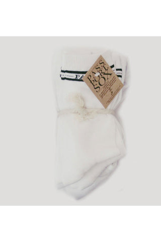 SOCKS PASS PORT HI SALUTE WHITE 5 PACK