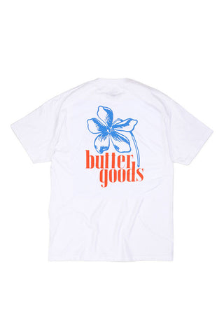 BACK - TSHIRT BUTTER GOODS FLORAL WHITE
