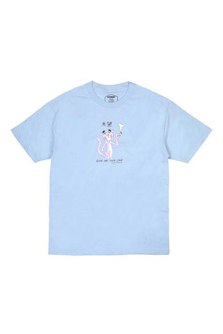 FRONT - TSHIRT BUTTER GOODS PANTHER POWDER BLUE