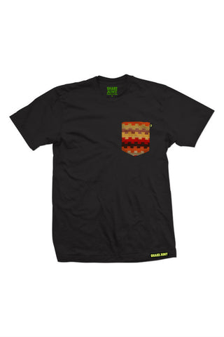 TSHIRT SHAKE JUNT HOPI POCKET BLACK