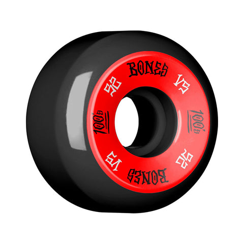 WHEELS BONES 100'S V5 BLACK 52MM