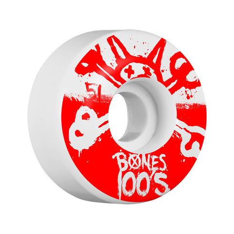 WHEELS BONES 100'S #10 WHITE 51MM