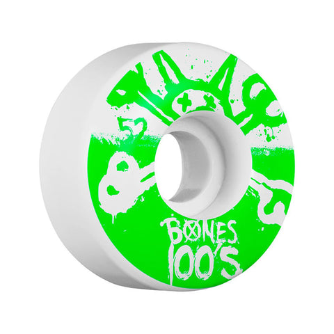 WHEELS BONES 100'S #10 WHITE 52MM