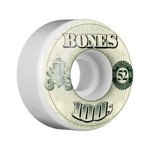 WHEELS BONES 100'S #11 WHITE 52MM