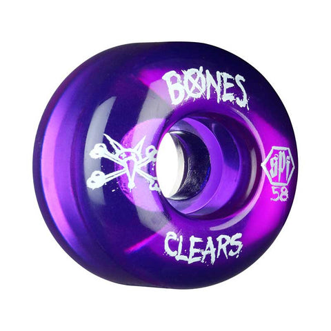 WHEELS BONES SPF CLEAR PURPLE 58mm